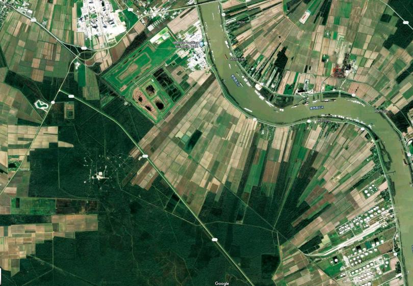在路易斯安那州的石化園區正式完工後,六輕石化的比重就會降低。(圖/翻攝自Google Map)