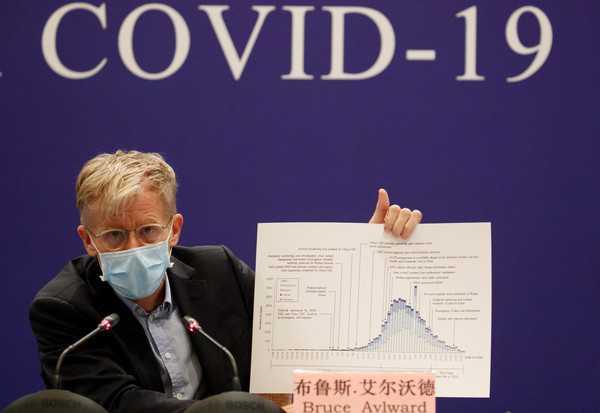 艾沃德再度肯定中國防疫措施應變得宜,並感謝武漢人民的貢獻。(圖/路透社)