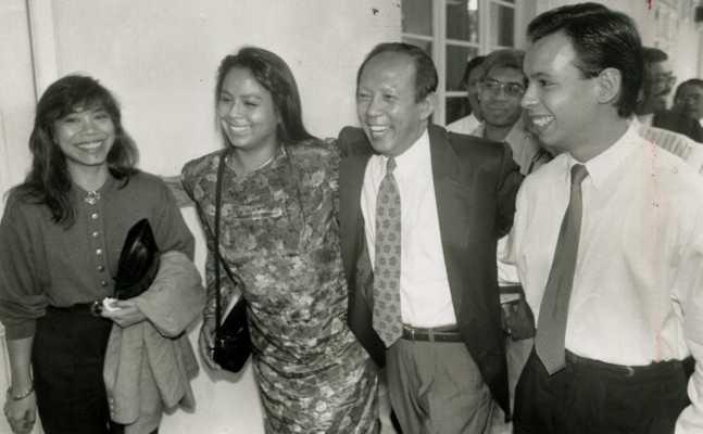大馬前副首相慕沙希淡一家人。(圖/翻攝自The Star)