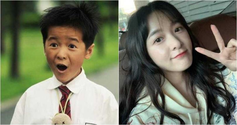 徐嬌已經從當年拍《長江七號》的稚氣模樣,蛻變成小美女。(圖/翻攝自微博)