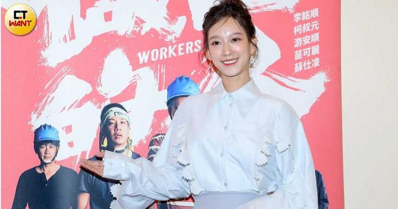 孟耿如、薛仕凌出席新戲《做工的人》記者會。(圖/攝影施岳呈)