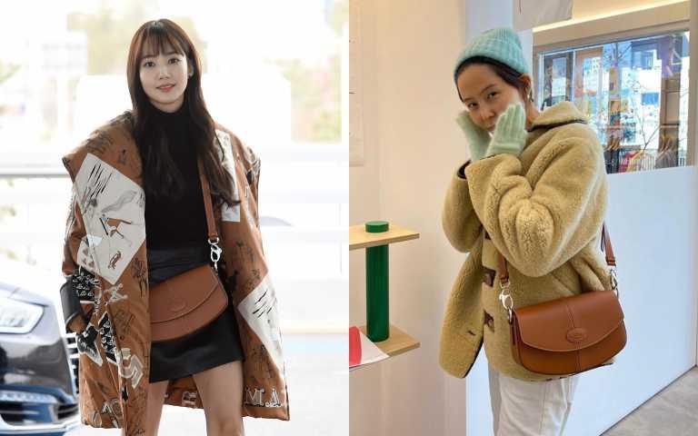 C Bag半月包受到許多韓國藝人喜歡,朴敏英外、金娜英都揹它展演時尚!TOD'S C BAG 半月包焦糖色/72,300元(圖/品牌提供)