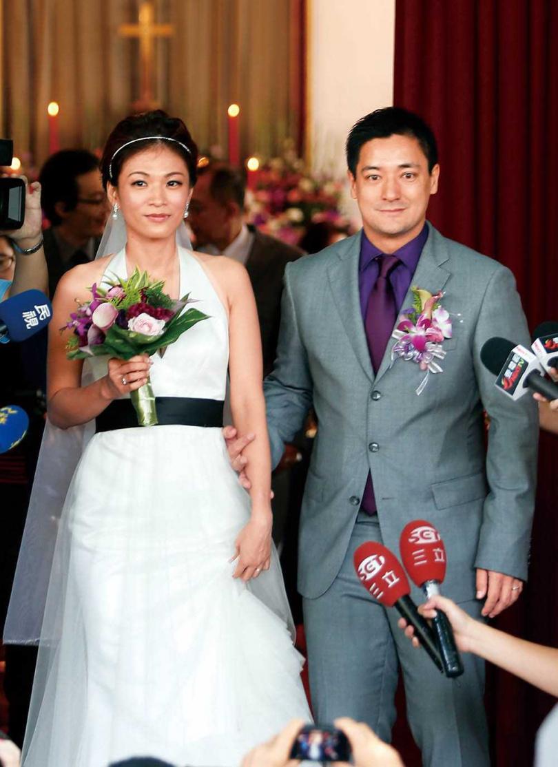 蔣友常2012年與郭秋君結婚。(圖/報系資料庫)
