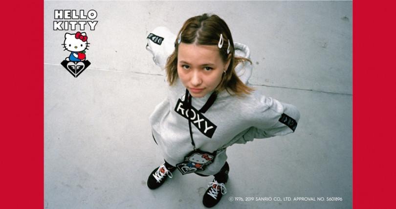 女性衝浪領導品牌ROXY與三麗鷗攜手,打造一系列可愛實用的ROXY X HELLO KITTY聯名商品。(圖/ROXY提供)