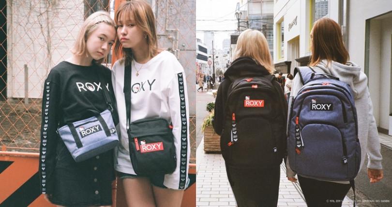 女性衝浪領導品牌ROXY與三麗鷗攜手,打造一系列可愛實用的ROXY X HELLO KITTY聯名商品。(圖/ROXY JAPAN)