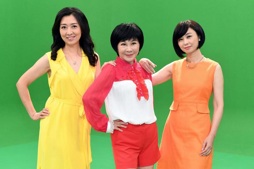 左起鄧惠文、吳淡如、賴芳玉,將以女性觀點,一同主持時事評論節目。(圖/華視提供)