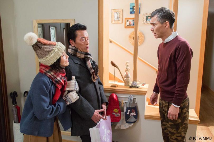 蓮佛美沙子表示劇中男友是遠藤憲一,父親則是渡部篤郎,簡直就像是在享齊人之福。(圖/國興衛視提供)