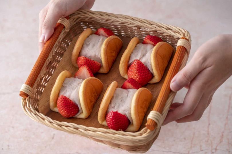 草莓元寶。(圖/TARTINE唐緹提供)