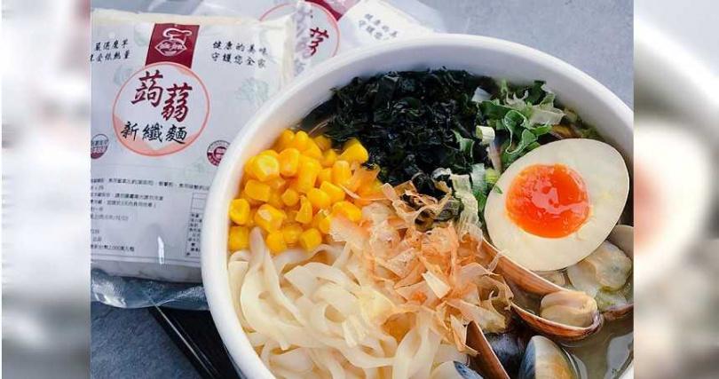 「搭嘴好食」的低卡蒟蒻纖麵。(圖/Pinkoi提供)