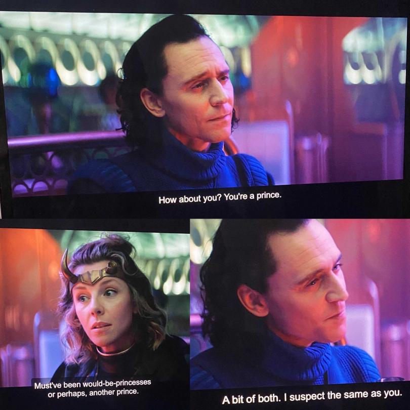 洛基和女洛基聊天曝真實性向。(圖/翻攝自Kate Herron推特)