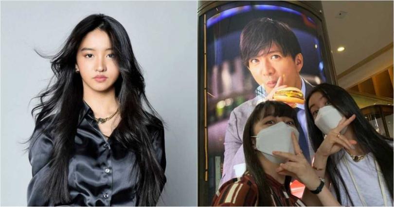 木村光希分享與姊姊休假出遊照片,其中一張另類的「父女同框」照,引發粉絲討論。(圖/翻攝IG)