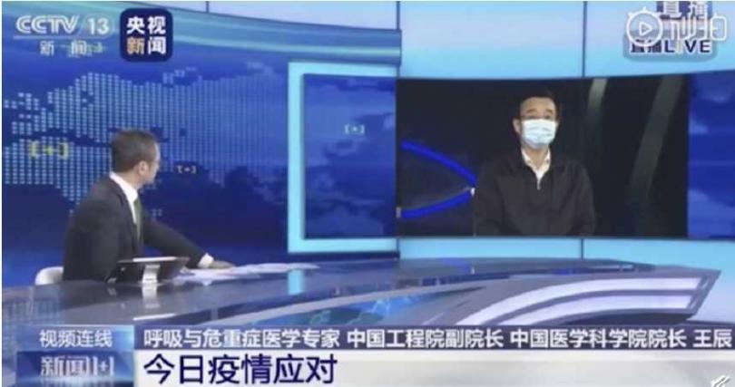 王辰接受央視專訪。(圖/秒拍)