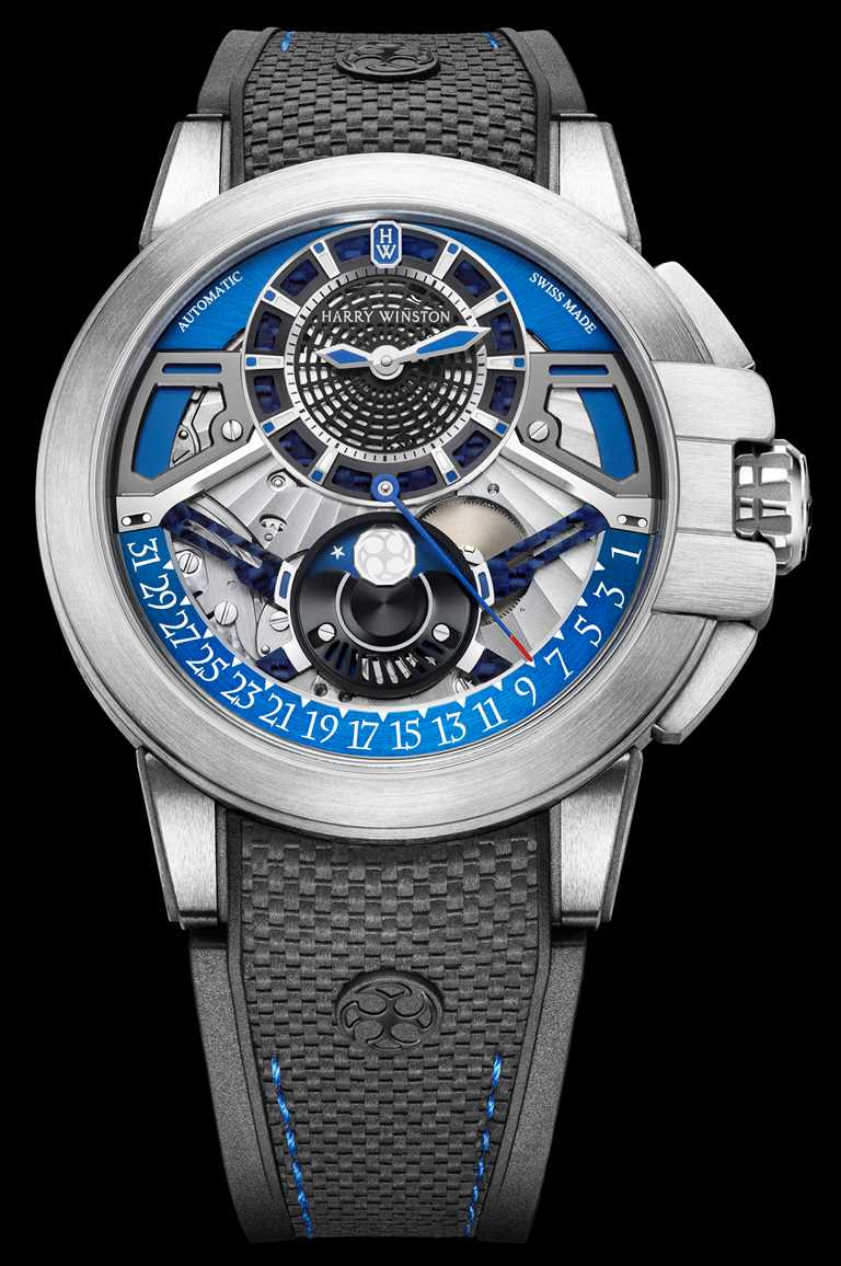 HARRY WINSTON「Project Z13自動腕錶」,Zalium鋯合金錶殼,42mm╱820,000元。(圖╱HARRY WINSTON提供)