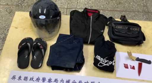警方根據監視器以車追人,起出嫌犯行兇的衣物以及兇刀,依殺人未遂罪送辦。(圖/翻攝畫面)