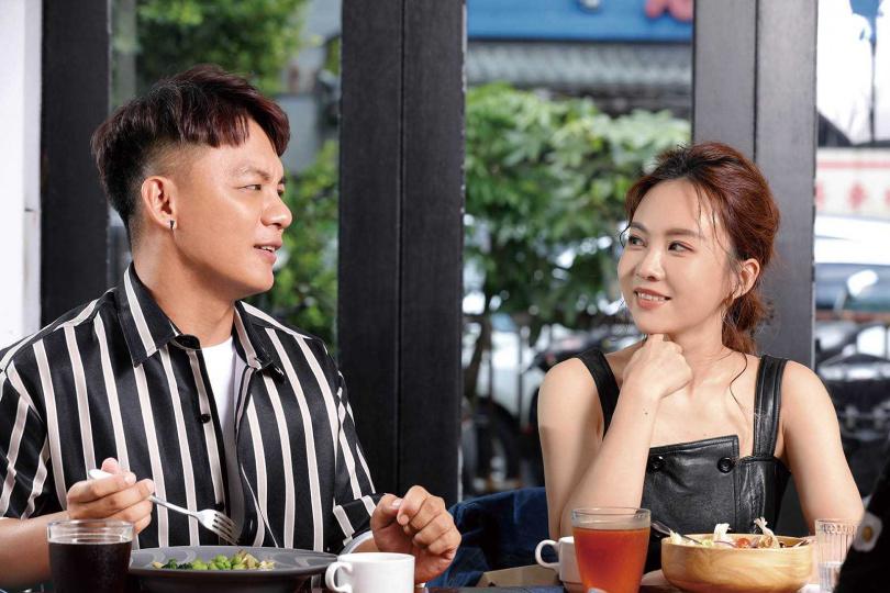 第一次踏上金曲獎盛宴,曾瑋中和杜忻恬已進行甩肉計畫,嚴格把關飲食。(圖/施岳呈攝)