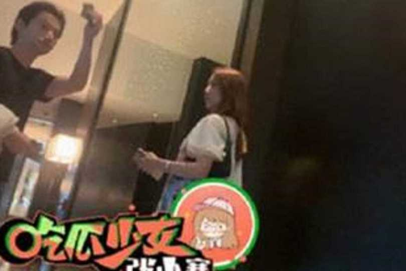 羅昊被拍到帶正妹進酒店。(圖/取自吃瓜少女張小寒微博)