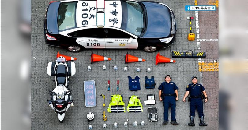 台中警局推出「守護交通安全包」。(圖/翻攝自TCPB 局長室臉書)