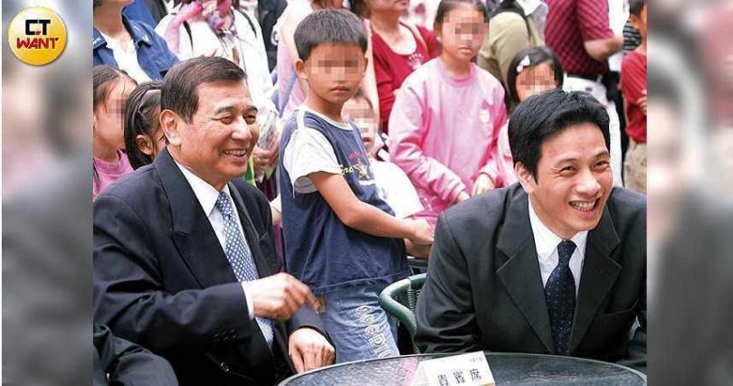 東元集團會長黃茂雄(左)和長子黃育仁(右)(圖/何叔娟攝)