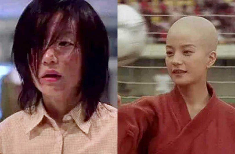 趙薇當年演出《少林足球》,扮醜造型讓她聲勢再攀顛峰。(圖/翻攝自微博)