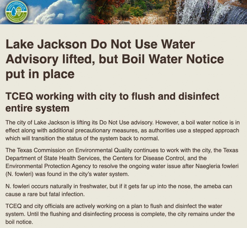 TCEQ針對民眾用水提出建議。(圖/翻攝自@TCEQ Twitter)