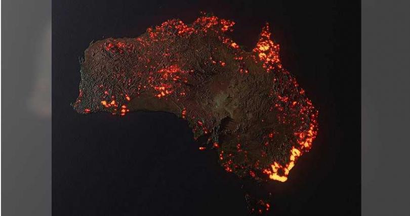 澳洲野火背後真有害群之馬,180人涉嫌縱火。(圖/翻攝自Daily Mail)