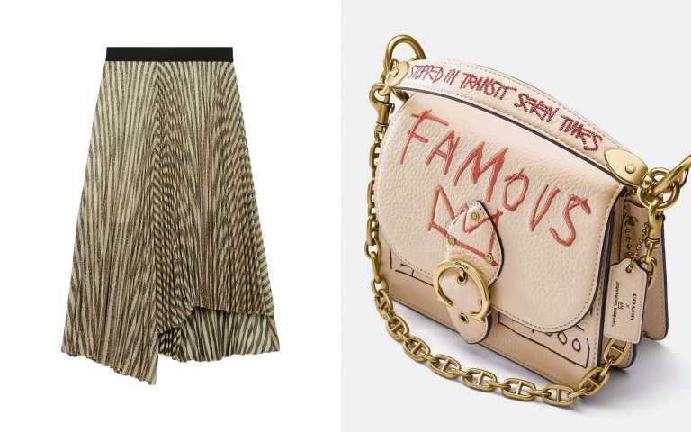 編輯推薦類似穿搭(左)Maje雪紡不規則下擺長裙/10,440元;(右) Coach XBasquiat Beat 18手袋/25,800元(圖/FENDI提供)