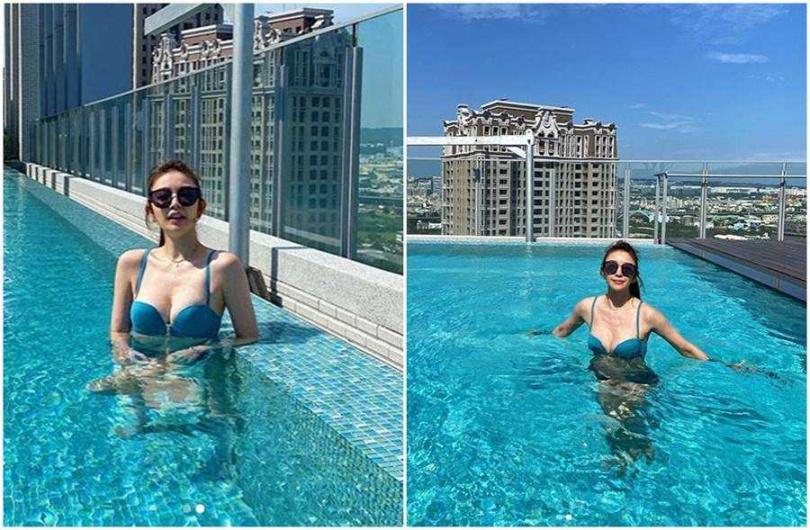許維恩曬出泳裝辣照。(圖/取材自許維恩Instagram)