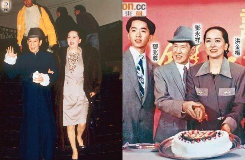 鄧兆尊和母親洪金梅與父親鄧永祥。(圖/翻攝自東網)