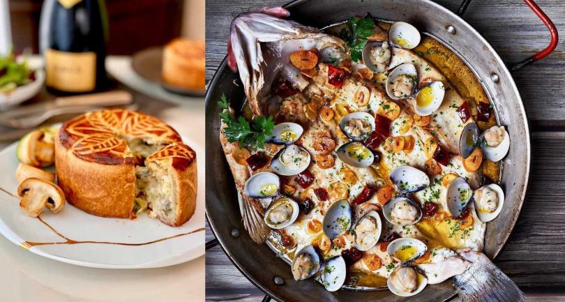 主打法式料理的小樂沐(左)和西班牙餐廳DNA Spanish Restaurant(右),被預測至少能入選「米其林餐盤」。(圖/擷取自小樂沐、DNA Spanish Restaurant粉絲頁)