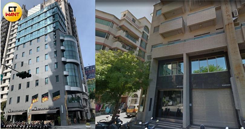 民視董事會懷疑宏昇(左)和慶洋(右)兩家廠商間,在影城建案上有合作關係。(圖/宋岱融攝)