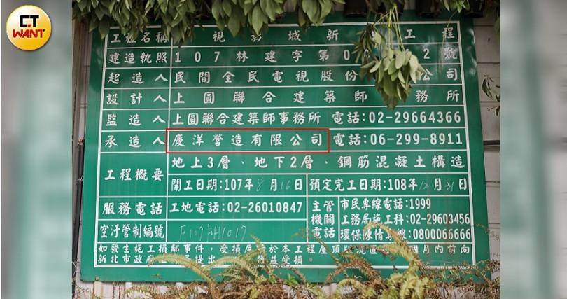 郭倍宏表示影城是台內自行發包找廠商,他沒干預,最後得標的「慶洋」他也不熟。(圖/張文玠攝)