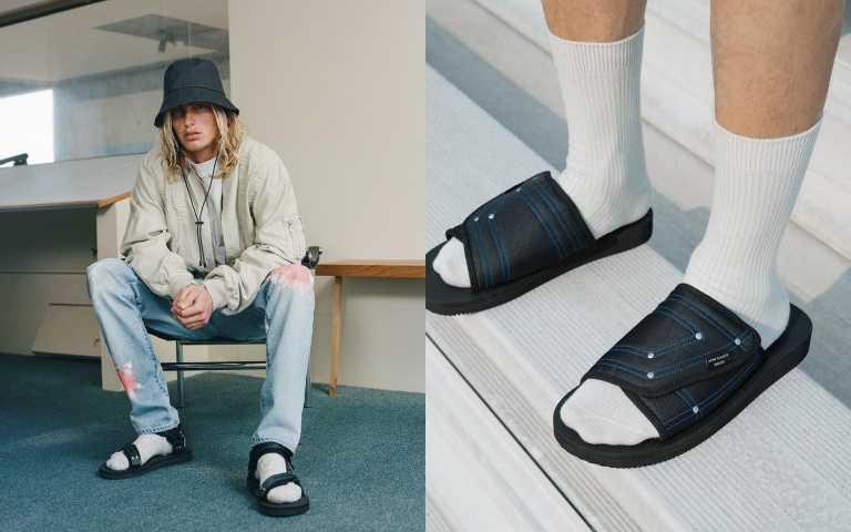 John Elliott × SUICOKE SAW 拖鞋/6,280元、KIPA 涼鞋/5,480元(圖/品牌提供)