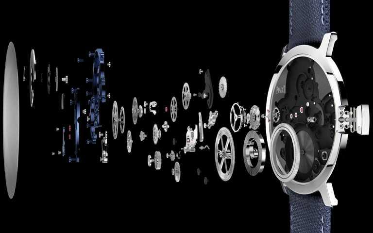 PIAGET伯爵製,900P-UC超薄手動上鍊機芯分解圖。(圖╱PIAGET提供)