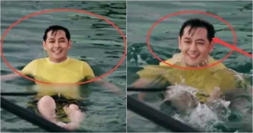 林志穎在演藝圈有「不老男神」稱號,但最近他落水照曝光,意外被發現他後退的髮際線。(圖/翻攝臉書,微博)