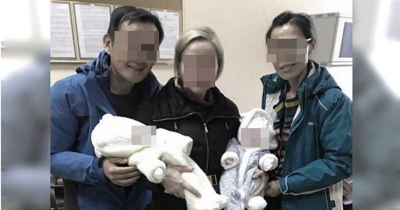K女胞弟阿強與妻子阿媚赴烏克蘭代孕機構替K女生孩子。(圖/讀者提供)
