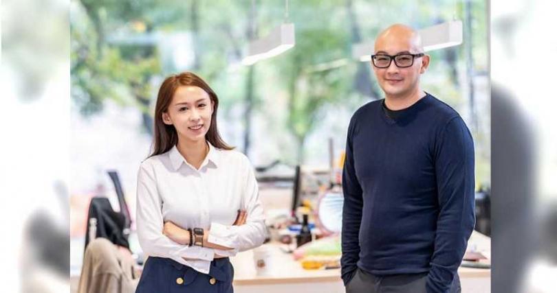 食蘊集團陳惠文總經理右為跨界鏈動資本黃子睿董事長。