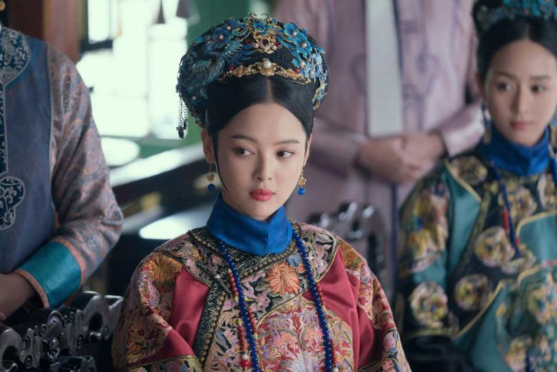 辛芷蕾在《如懿傳》中飾演心狠手辣的金玉妍。(圖/中天娛樂台提供)