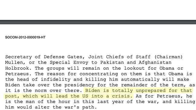 賓拉登在一封密令中要求部屬將目標放在歐巴馬身上,而放過拜登。(圖/翻攝自澳洲新聞)