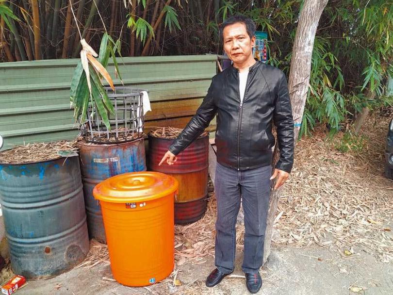 檢警發現,兩嫌將林女屍體裝入大垃圾桶後,倒入鹽酸,並用水泥覆蓋,手段相當凶殘。(圖/翻攝畫面)
