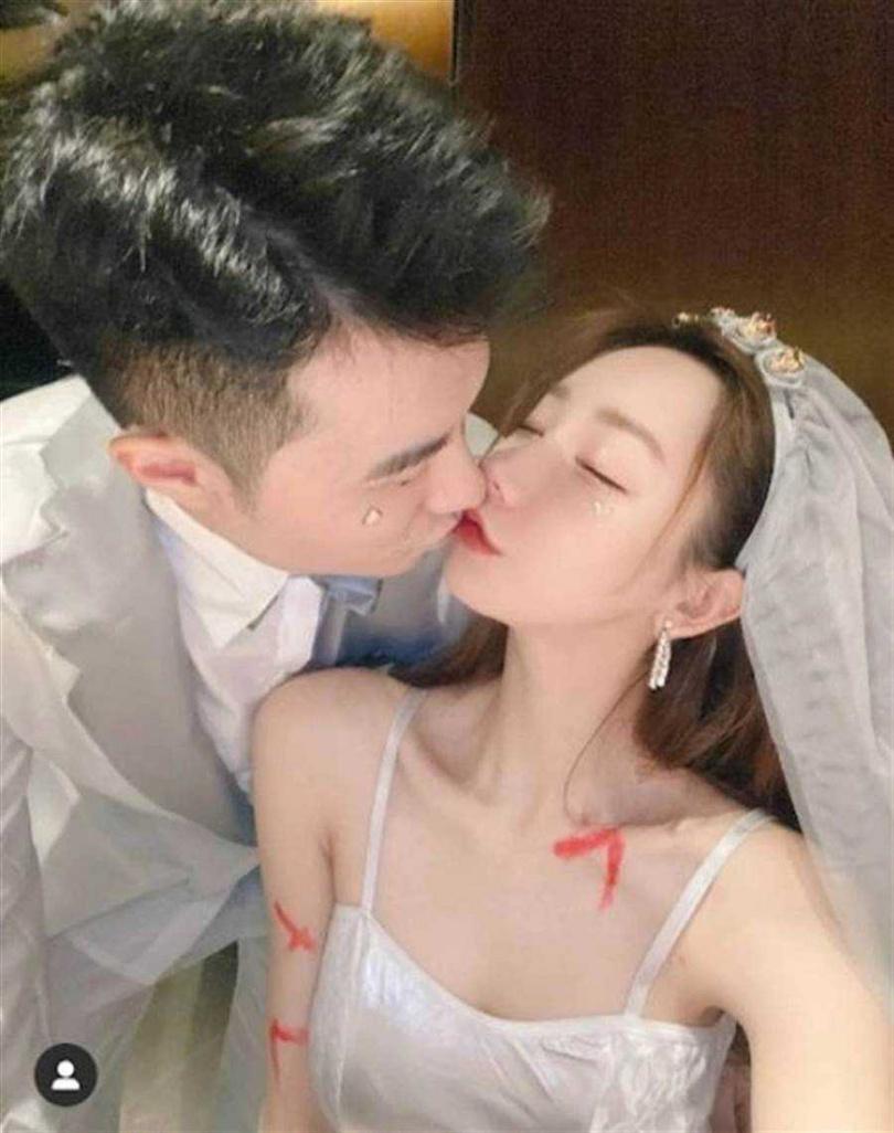 謝芷蕙與神祕男子親密照流出,隨後大方承認戀情。(圖/翻攝自東網)