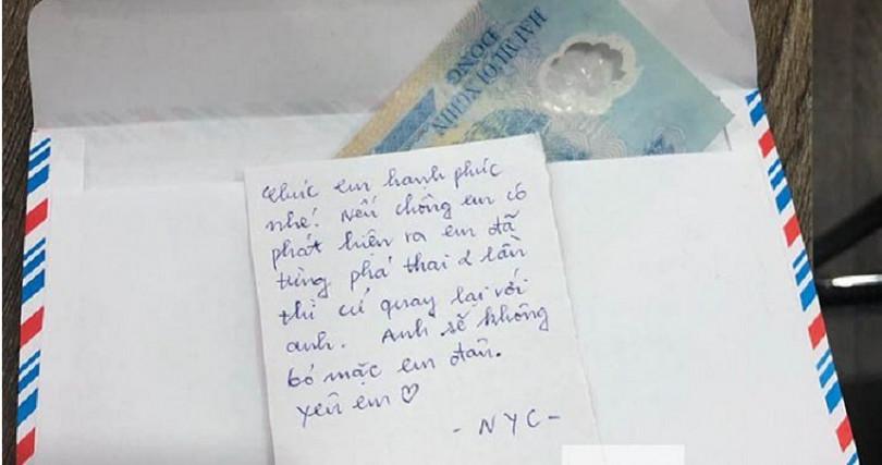 日前越南一名新娘在婚禮當天,因前男友寄來的一張紙條,讓新娘在婚禮當晚就被丈夫趕出家門。(圖/翻攝自Eva.vn)