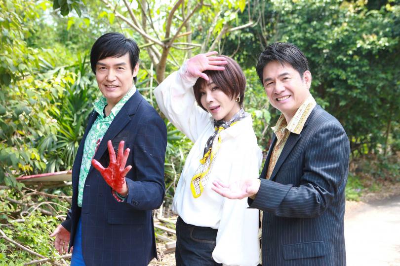 霍正奇、陳美鳳、洪都拉斯拍攝民視備檔戲《黃金歲月》。(圖/民視)