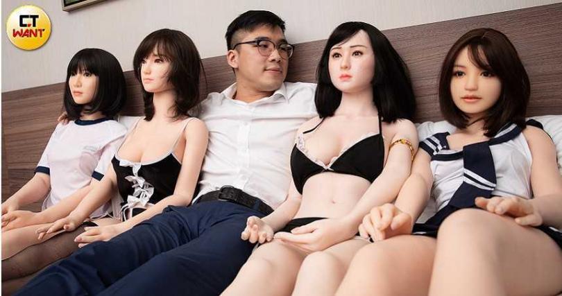 Kyle雄心萬丈想當情色教父,未來還想讓「性愛娃娃」事業可上櫃。(圖/本刊攝影組攝)