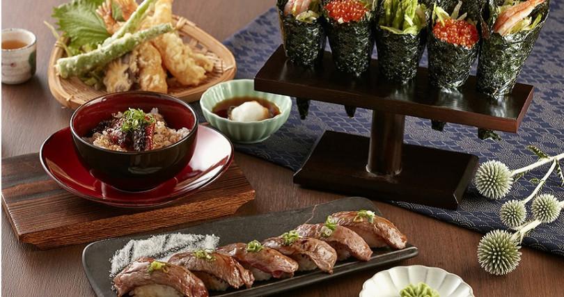 日本料理區推薦菜色。(圖/台北喜來登大飯店提供)
