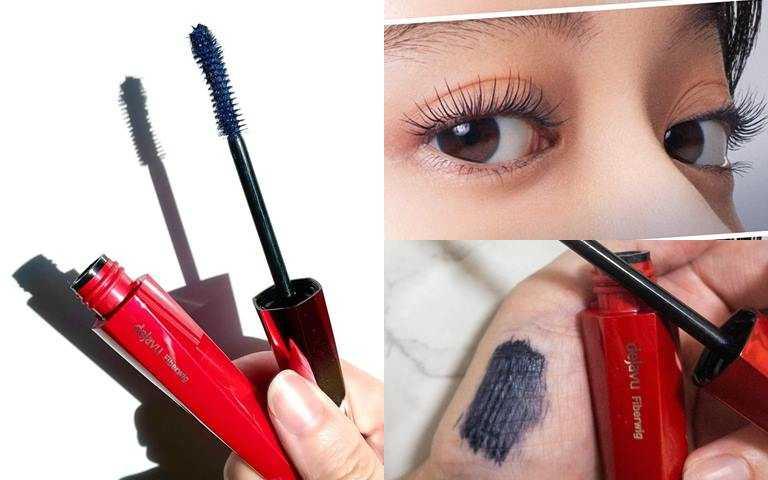 dejavu放肆驚豔纖長色彩睫毛膏#藍黑限定色/420元帶有煙燻感的時髦藍灰黑。(圖/品牌提供、IG@iroha_fukuokabz、IG@ari_cosmetico)