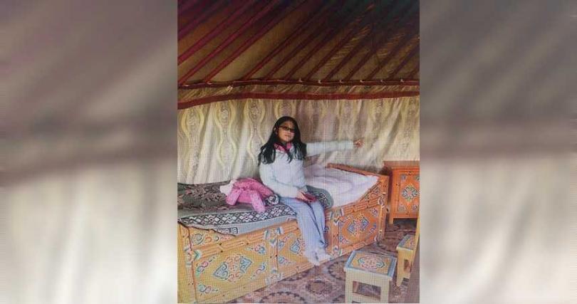 無辜遭波及的張姓女童個性活潑,還曾在網路分享蒙古遊記。(圖/翻攝畫面)