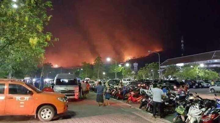 清邁及清萊從3月中發生森林大火,大火肆虐造成近400公頃的林地被焚毀。(圖/We Don't Deserve This Planet臉書)