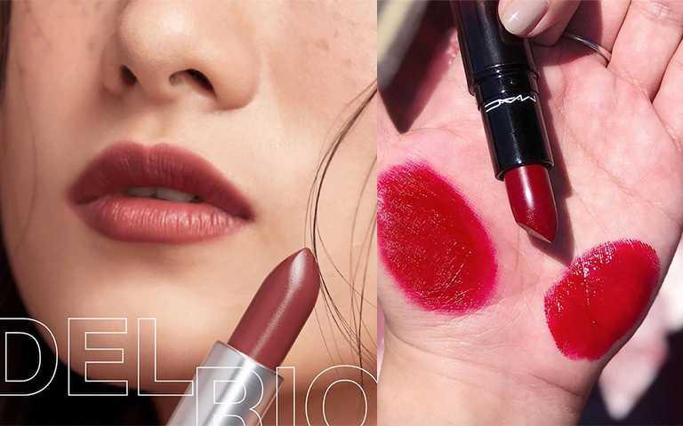M.A.C 絨光豐盈唇膏#DEL-RIO 煙燻莓紅/NT770(圖/翻攝自maccosmeticstaiwan_ IG)