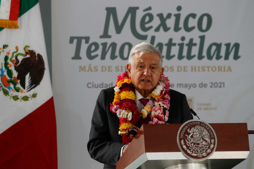 墨西哥總統羅培茲歐布拉多。(圖/達志/美聯社)