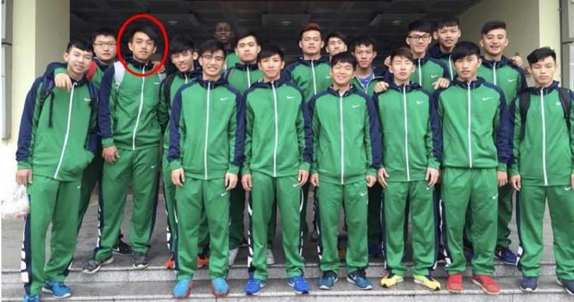 蕭文豪曾是中州科大籃球隊一員。(圖/翻攝中州科大籃球隊臉書)
